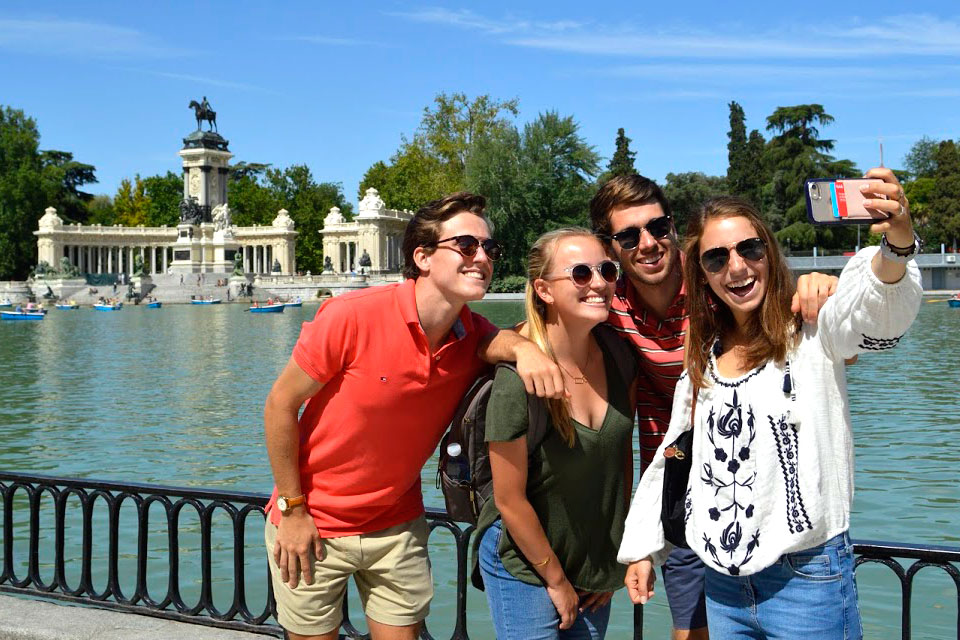 Students on study abroad trip.